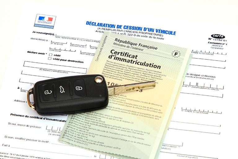 Démarche ANTS carte grise, certificat de cession de véhicule